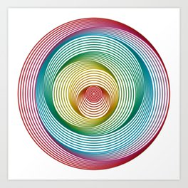 Shifting Circles Art Print