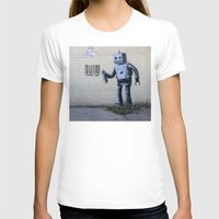 banksy T-shirts featuring Banksy Robot (Coney Island, NYC) by Limitless Design