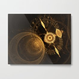 Golden Clock Metal Print