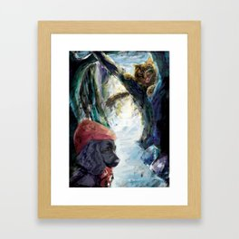 little red riding hood 2 Framed Art Print