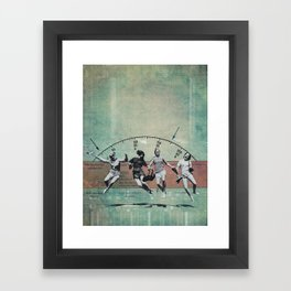you landed on your feet Framed Art Print