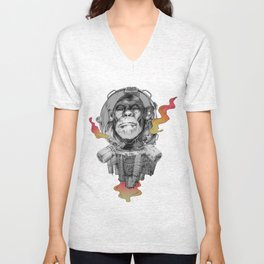 Space Monkey Unisex V-Neck