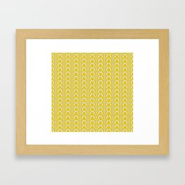 Snow Drops on Mustard Yellow Framed Art Print