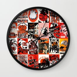 Halloween : Trick Or Treat, Smell My Feet, Gimmie Something Good To Eat. Wall Clock