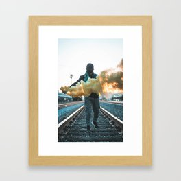Los Angeles Renegade Smoke Grenade Framed Art Print