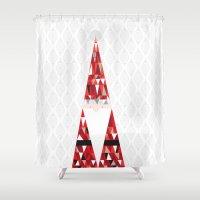 santa Shower Curtains featuring SANTA by Pardabon