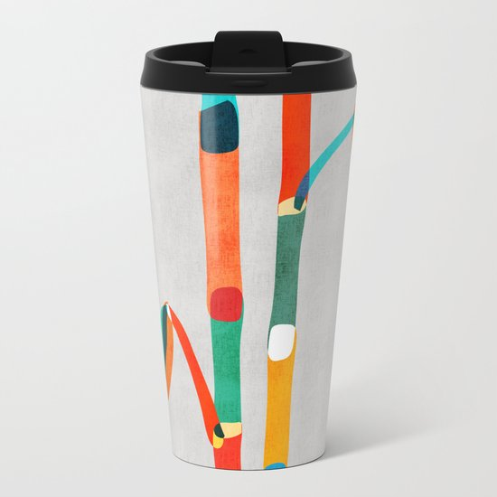 Couple of Bamboo Metal Travel Mug