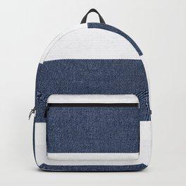 Nautical Blue & White Stripes Backpack