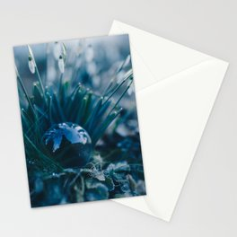 Glass Snowdrops. Stationery Cards