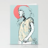 korea Stationery Cards featuring Korea Girl by Dave Long [A1W]