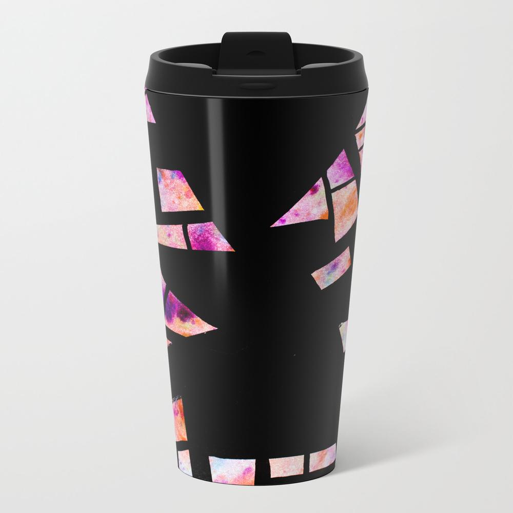 Vibrant Abstract Geometric Shapes - Watercolour An… Travel Mug TRM9032479