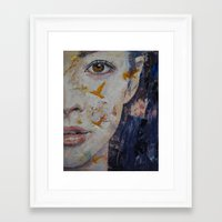geisha Framed Art Prints featuring Geisha by Michael Creese
