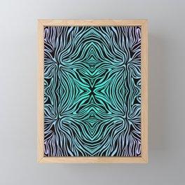 Teal Aquatic Streams Framed Mini Art Print
