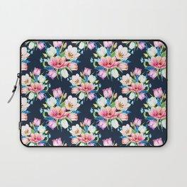 tulips on dark background Laptop Sleeve