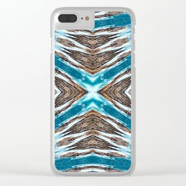 Seamless Kaleidoscope Colorful Pattern XXIV Clear iPhone Case
