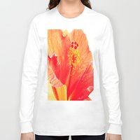 hibiscus Long Sleeve T-shirts featuring Hibiscus by Lindzey42
