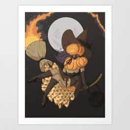 Pumpkin Witch Art Print
