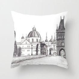 Charles Bridge in Prague, Czech Republic Throw Pillow