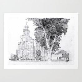 St. George LDS Temple Art Print