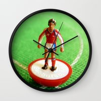 1989 Wall Clocks featuring Arsenal Subbuteo Player 1989 by Tabletop Legends