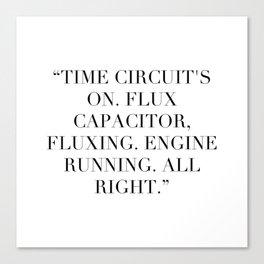 Flux Capacitator Canvas Print
