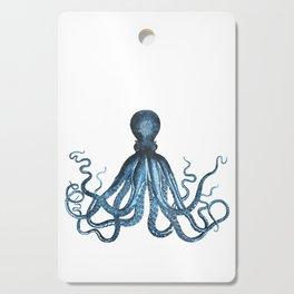 Octopus coastal ocean blue watercolor Cutting Board