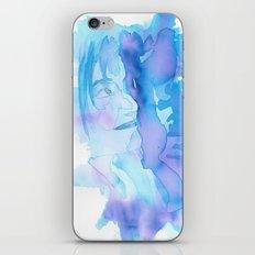 Lady in Blue iPhone & iPod Skin