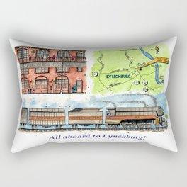 All Aboard to Lynchburg! Rectangular Pillow