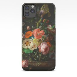 "Rachel Ruysch ""Still Life with Flowers on a Marble Tabletop"" iPhone Case"