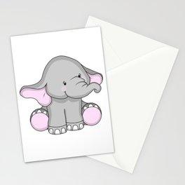 Pretty Pachyderm Stationery Cards