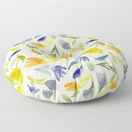 Playful Garden Party Colorful, Vibrant Contemporary Pattern Floor Pillow