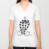 alien V-neck T-shirts featuring Alien by artlandofme