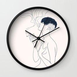 Smoking Wall Clock