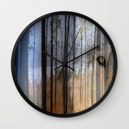 Wolf Country 2 Wall Clock