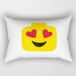 Heart Eyes - Emoji Minifigure Painting Rectangular Pillow