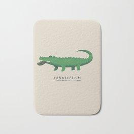 croc cannibalism Bath Mat
