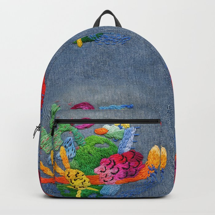 abstract embroidery Rucksack