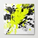 Surprise! Black and yellow abstract paint splat artwork by printpix