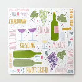 Wine festival. Things about wine Metal Print