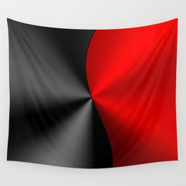 Slick masculine black and red metallic design Wall Tapestry