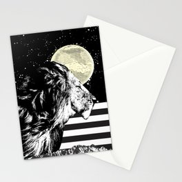 Lion in Space Stationery Cards