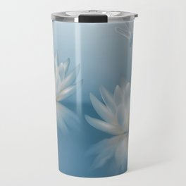 Blue Lotus and Dragonfly Travel Mug