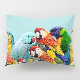 Sky blue parrots home decor Pillow Sham