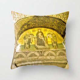 Painting the sacred wall. Throw Pillow