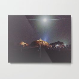 UFOS ON THE BEACH Metal Print