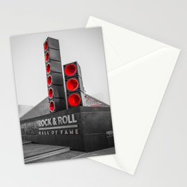Cleveland Ohio Rock And Roll Hall Of Fame Black White Red Stationery Cards
