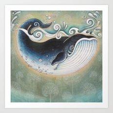 the Blue Whale Art Print