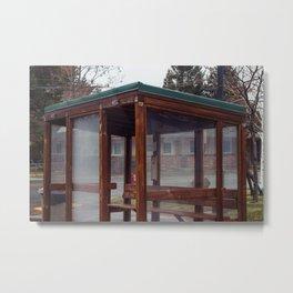 Bus Stop - Weed, CA Metal Print