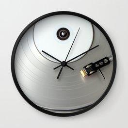 Silver Ice Wall Clock