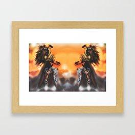 Lady of Light Years ( REFLECTED) [Digital Figure Illustration] Framed Art Print